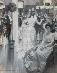 Howard Chandler Christy (American, 1872-1952) The Gala, probable Ladies Home Journal cover, 1900 Gou