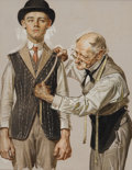 Fine Art - Painting, American, Joseph Christian Leyendecker (American, 1874-1951). Fitted for aSuit, The Saturday Evening Post cover study, April 15, ...