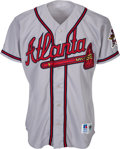 Baseball Collectibles:Uniforms, 1995 Greg Maddux Game Worn Atlanta Braves Jersey. ...
