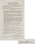 Football Collectibles:Others, 1957 Ernie Stautner Signed NFL Pro Bowl Player's Contract....