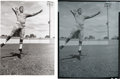 Football Collectibles:Photos, 1956 Bart Starr Original Negative from '57 Topps Rookie Card Shoot....