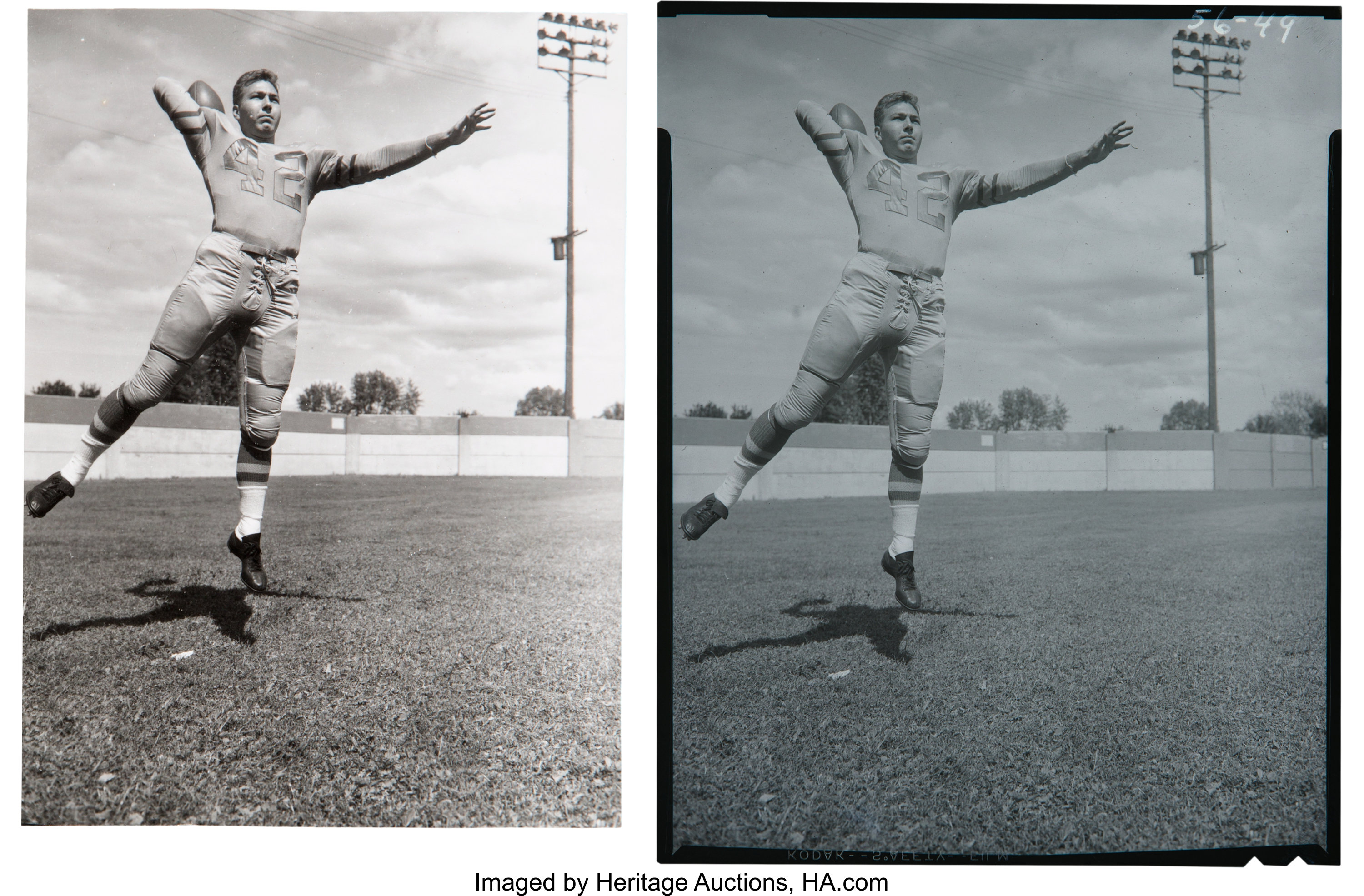 1956 Bart Starr Original Negative From 57 Topps Rookie Card