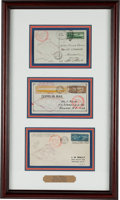 Transportation:Aviation, [Aviation] Three Graf Zeppelin Flown Covers from the 1930First Europe- Pan American Flight, each Bearing a Differ...
