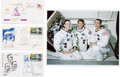 Autographs:Celebrities, Apollo 7: Crew Individually-Signed Covers with Color Photo. ...(Total: 3 Items)