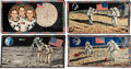 Explorers:Space Exploration, Apollo 11: Collection of Four Large, Colorful Tapestries....(Total: 4 Items)