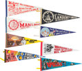 Explorers:Space Exploration, Apollo 11: Collection of Eight Large Felt Banners.... (Total: 8Items)