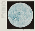 "Explorers:Space Exploration, ""USAF Lunar Reference Mosaic"" Color Map, LEM-1A, 1962. ..."