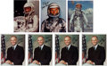 Autographs:Celebrities, John Glenn Collection of Seven Signed Color Photos, Spacesuit andBusiness Suit Poses. ...
