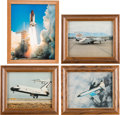 Explorers:Space Exploration, NASA Color Photos (Four) in Framed Displays. ... (Total: 4 Items)