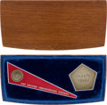 Explorers:Space Exploration, Luna 9 Spacecraft Commemorative Emblems in Wooden Presentation Box....
