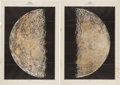 Explorers:Space Exploration, КАРТА ЛУНЫ (Map of the Moon) Book with Large Prints (Two) byJosef Klepesta and Ladislav J. Lukesh, (Prague: Centr...