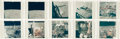 "Explorers:Space Exploration, Apollo 14: Group of Ten NASA Original ""Red Number"" Lunar ColorPhotos, from Magazines 66 and 67...."