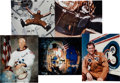 Autographs:Celebrities, Space Shuttle and Skylab Signed Astronaut Scholarship FoundationColor Photos (Five), includes Jerry Carr, Ed Gibson, Bill Pog...(Total: 5 Items)