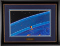 "Explorers:Space Exploration, Alexei Leonov Original Painting ""The Ashy Layer"" in Framed Displaywith Four Signed & Numbered Litho Prints and Photographic P...(Total: 2 Items)"