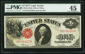 Large Size:Legal Tender Notes, Fr. 38 $1 1917 Mule Legal Tender PMG Choice Extremely Fine 45.. ...