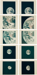 "Explorers:Space Exploration, Apollo 17: Group of Twenty Original NASA ""Red Number"" Trans-Lunar Coast Earth Color Photos, from Magazine 148...."