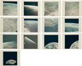 "Explorers:Space Exploration, Apollo 17: Group of Thirteen Original NASA ""Red Number"" Earth Orbitand Early Trans-Lunar Coast Color Photos, from Magazine 14..."