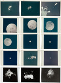 """Explorers:Space Exploration, Apollo 13: Group of Twelve NASA Original """"Red Number"""" Color Photos,from Magazines 58, 60, 61, and 62. ..."""