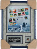 "Explorers:Space Exploration, Buzz Aldrin Signed ""1960s Celebrate the Century"" USPS Stamp Sheet,in Framed Display, Originally from His Personal Collection...."