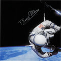 Autographs:Celebrities, Buzz Aldrin Signed Gemini 12 EVA Color Photo Originally from HisPersonal Collection. ...