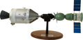 Explorers:Space Exploration, Apollo-Soyuz Test Project: A Rare 1/25 Scale Rockwell Contractor'sModel on Wooden Base. ...
