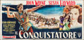 "Movie Posters:Action, The Conqueror (RKO, 1956). Italian 6 Panel (77.5"" X 157""). Action....."