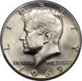 Kennedy Half Dollars, 1969-D 50C MS67+ PCGS....
