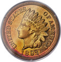 Proof Indian Cents, 1897 1C PR67 Red PCGS....