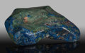 Lapidary Art:Carvings, Polished Azurite. Bisbee, Warren District. Mule Mts, Cochise Co.. Arizona, USA. ...