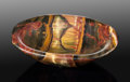 Lapidary Art:Carvings, Tiger's Eye Bowl. Mt. Brockman Station. Pilbara.Western Australia. ...