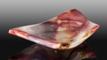 Lapidary Art:Carvings, Mookaite Bowl. Mooka Creek. Kennedy Ranges.Western Australia. ...