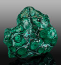 Lapidary Art:Carvings, Malachite Free-Form. Katanga Copper Crescent. Katanga(Shaba). Democratic Republic of Congo (Zaïre). ...