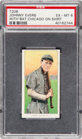 Baseball Cards:Singles (Pre-1930), 1909-11 T206 Sweet Caporal Johnny Evers (With Bat, Chicago OnShirt) PSA EX-MT 6....