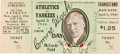 Baseball Collectibles:Tickets, 1944 Connie Mack Day Signed Ticket. ...
