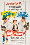 """Baseball Collectibles:Others, 1962 """"Safe At Home!"""" One-Sheet Movie Poster...."""