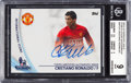Olympic Cards:General, 2013-14 Topps EPL Cristiano Ronaldo Gold Star Players Autographs#SPCR BGS Mint 9 - 9 Autograph. ...