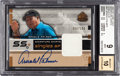 Golf Cards:General, 2003 Upper Deck SP Game Used Arnold Palmer Signature Shirts Singles SP #AP BGS Mint 9 - 10 Autograph. ...