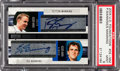 Football Cards:Singles (1970-Now), 2004 Upper Deck Foundations Peyton Manning & Eli Manning Dual Autograph #DE-MM PSA Mint 9....