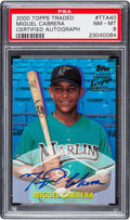 Baseball Cards:Singles (1970-Now), 2000 Topps Traded Miguel Cabrera #TTA40 Rookie PSA NM-MT 8....