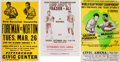 Boxing Collectibles:Memorabilia, 1970's Muhammad Ali, Frazier, Foreman, Norton Closed-Circuit Boxing Posters Lot of 3....