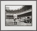 "Baseball Collectibles:Photos, 2000 Nat Fein Signed ""The Babe Bows Out"" Photograph...."