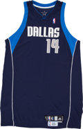 Basketball Collectibles:Uniforms, 2009-10 Eduardo Najera Game Worn Dallas Mavericks Jersey withMeiGray Tag. ...