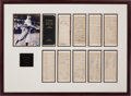Baseball Collectibles:Others, 1895 Cy Young Signed Personal Ledger Display....