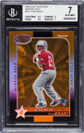 Football Cards:Singles (1970-Now), 2000 Leaf Certified Mirror Gold Tom Brady #207 Numbered 31 out of35 Rookie BGS NM 7....