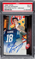 Football Cards:Singles (1970-Now), 1998 Topps Peyton Manning Bronze Autograph #A10 PSA Mint 9. ...