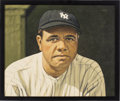 Baseball Collectibles:Others, 2017 Babe Ruth Original Artwork by Arthur Miller. ...