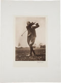 Golf Collectibles:Autographs, Early 1930's Harry Vardon Signed Oversized Photographic Print....