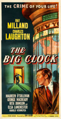 "Movie Posters:Film Noir, The Big Clock (Paramount, 1948). Three Sheet (41.25"" X 79.5"").. ..."