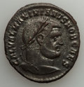 Ancients:Ancient Lots , Ancients: GROUP LOTS. Roman Imperial. Lot of two (2) Tetrarchic EraAE folles. About XF.... (Total: 2 coins)