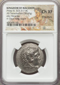 Ancients:Greek, Ancients: MACEDONIAN KINGDOM. Philip III Arrhidaeus (323-317 BC).AR tetradrachm (16.69 gm). NGC Choice XF, FineStyle.  ...